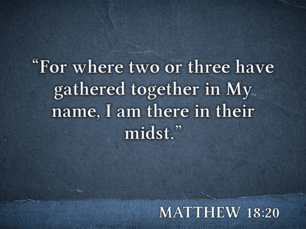 Matthew 18_20