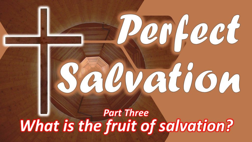 08 Perfect Salvation - What is the fruit of salvation - part three