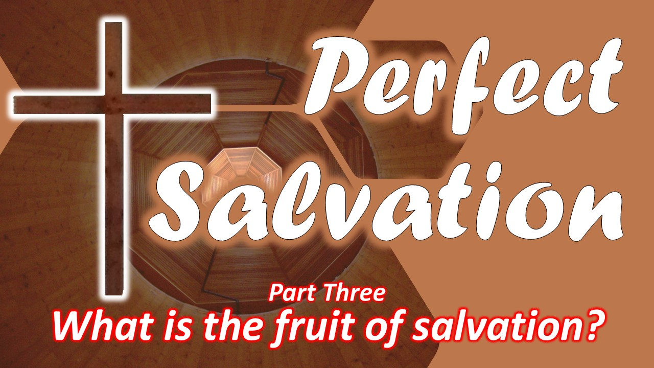 What is the Fruit of Salvation? (part three)