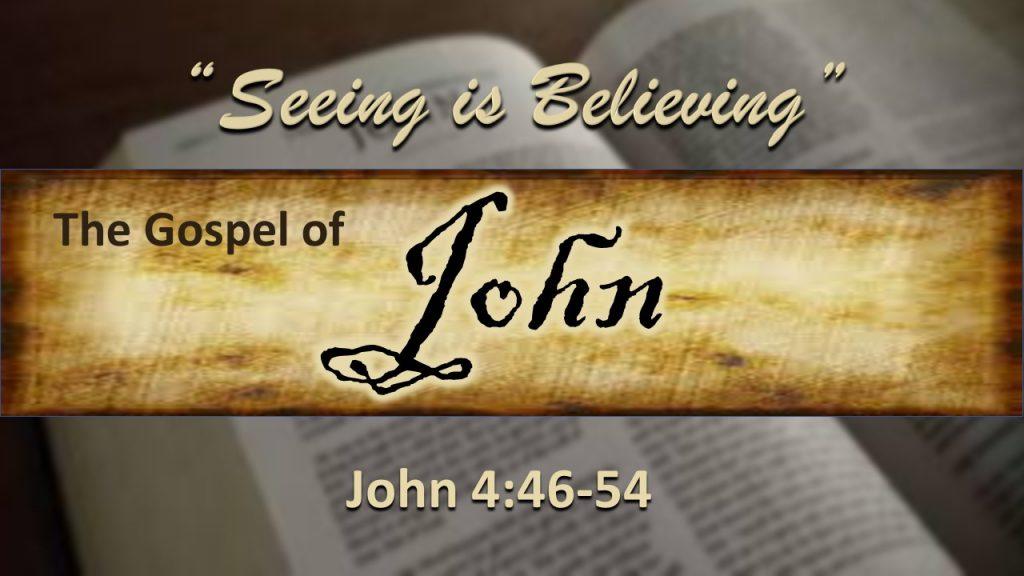 Gospe of John Sermon series - Scott Sottosanti - John 4 46-54