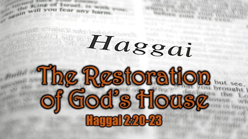 Haggai 2 20-23