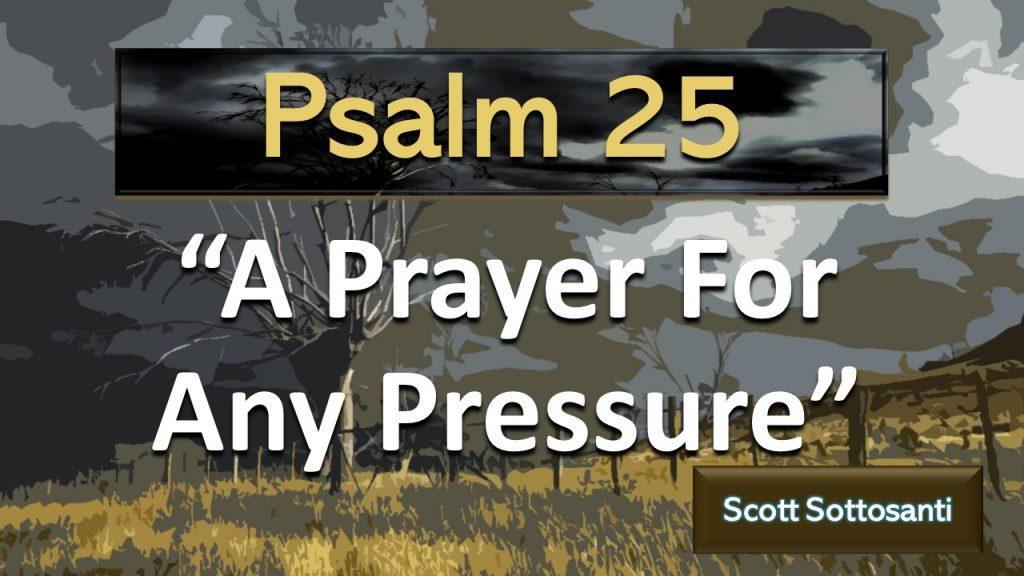 Psalm 25 - Sermon - A prayer for any pressure -