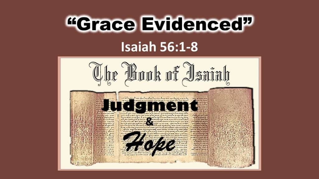 Grace evidenced