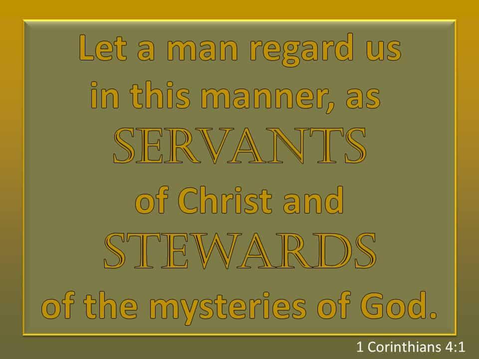 week 14 1 Corinthians 4 1